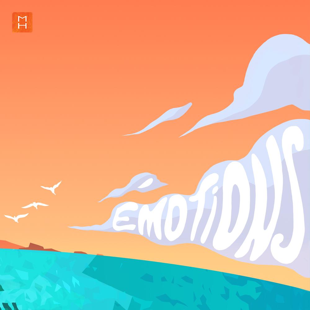 Illustration de l'affiche la fabrique du Changement par Margot Huguet extrait de l'affiche du nuage contenant le mot emotions