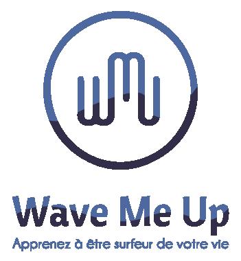 logo avec baseline réalisé par Margot Huguet de Wave me Up